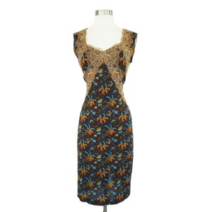 Dolce&Gabbana Bodycon Lace Trim Stretchy Pencil Dress