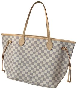 Louis Vuitton Neverfull Tote in Damier Azur / Beige