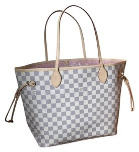 Louis Vuitton Palm Spring Backpack Monogram Tote in Damier Azur