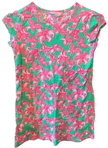 Lilly Pulitzer T Shirt green, pink