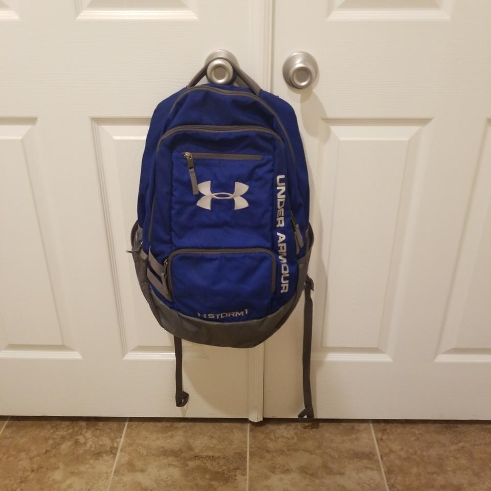 Under Armour And Grey Blue Canvas Backpack - Tradesy 8c7dc765c63cb