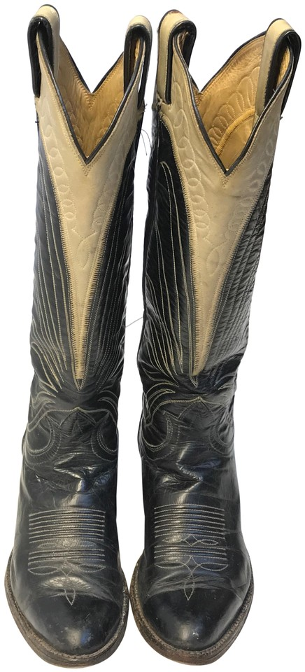4faa7795091 Lucchese Grey Black Vintage 80 s Women s Distressed Western Wear Ladies  Womens Boots Booties