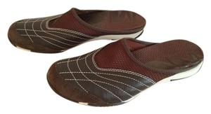Merrell Leather Mesh Brown Mules