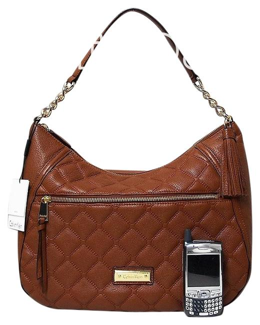 Item - Quilted Medium Luggage Brown Leather Hobo Bag