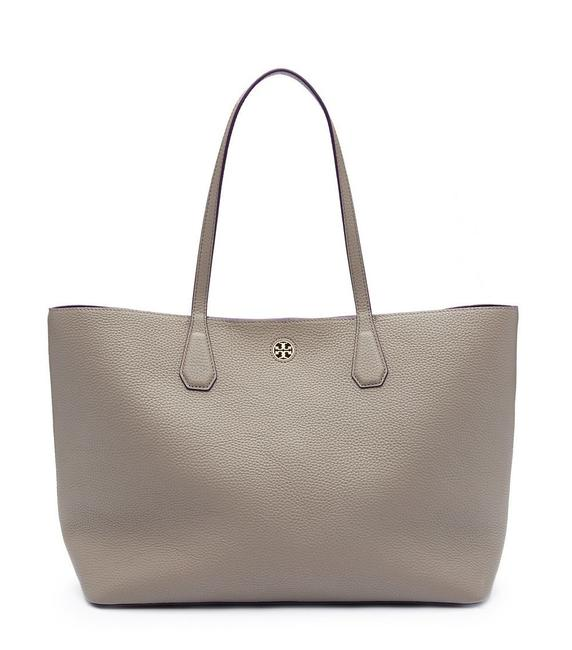 Item - Brody Perry New (41135) Pebbled French Ha Grey Leather Tote
