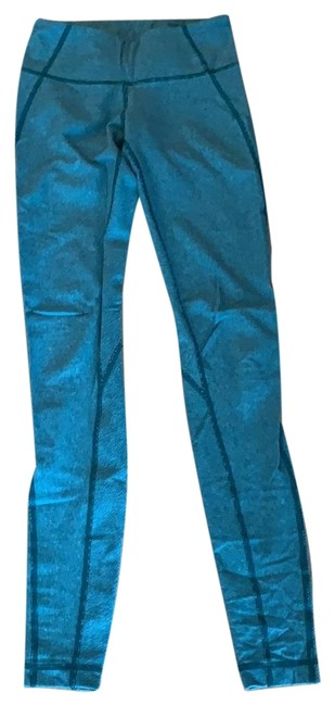 Item - Green (Heather Menthol Forage Teal) Stripe Wunder Under Pant Special Edition Activewear Bottoms Size 4 (S)