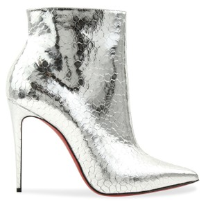 Christian Louboutin So Kate Silver Boots