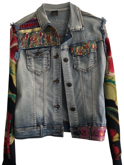 Item - Sweater Sleeves Jean Jacket Size 8 (M)