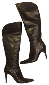 Via Spiga Leather Made In Italy Pointed Toe Black Boots