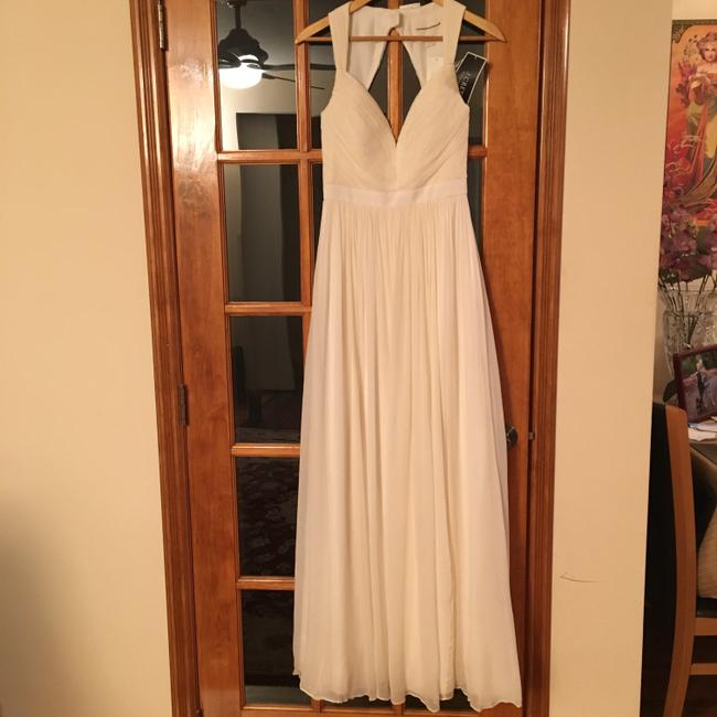 Item - White Ivory Silk Gigi Gown Casual Never Worn Feminine Wedding Dress Size 4 (S)