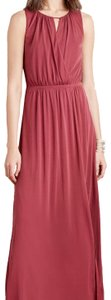 Moulinette Soeurs Faded Red Anthropologie Knee Slit Long Casual Maxi