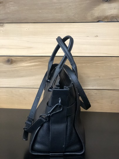 Coach Swagger Leather Satchel in Black on Black Image 2