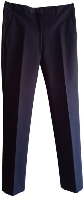 Theory Dark Navy Cotton & Viscose Style 70874220 Flat Front Dressy Casual Pants Size 2 (XS, 26) Theory Dark Navy Cotton & Viscose Style 70874220 Flat Front Dressy Casual Pants Size 2 (XS, 26) Image 1