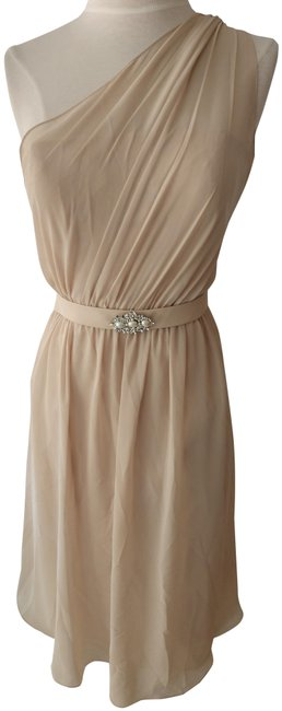 Item - Champagne/Beige Style Style # 915 Short Cocktail Dress Size 10 (M)
