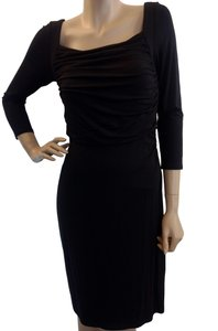 Ann Taylor Ruched Stretchy Solid Elegant Classic Dress