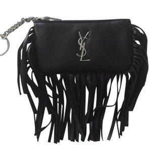 Saint Laurent Saint Laurent Monogram Fringe Key / Coin / Card Case