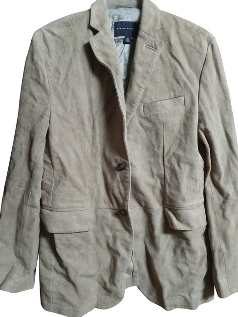 Item - Beige M Men's Suede Jacket Size 10 (M)