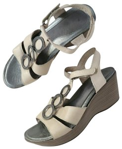aef21256a0ba Naot Tan Embellished T Strap Strappy Leather Comfort Wedge Sandals ...