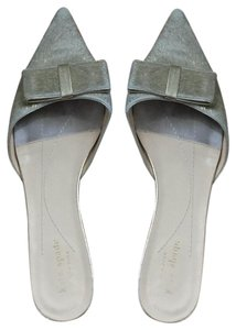 Kate Spade Gold animal-hair, leather interior Flats