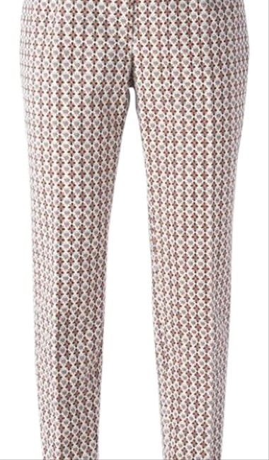 Item - Multi Colors Cropped Jacquard Trousers From Designer Style Id: 22151244 Pants Size 6 (S, 28)