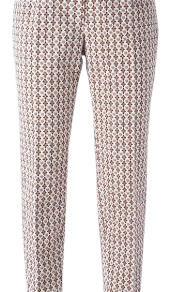 aa7498f9 Tory Burch Multi Colors Cropped Jacquard Trousers From Designer Style Id:  22151244 Pants