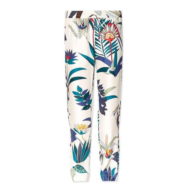 Item - Ivory and Blue Adele Silk Printed Casual Style 26272 Pants Size 6 (S, 28)
