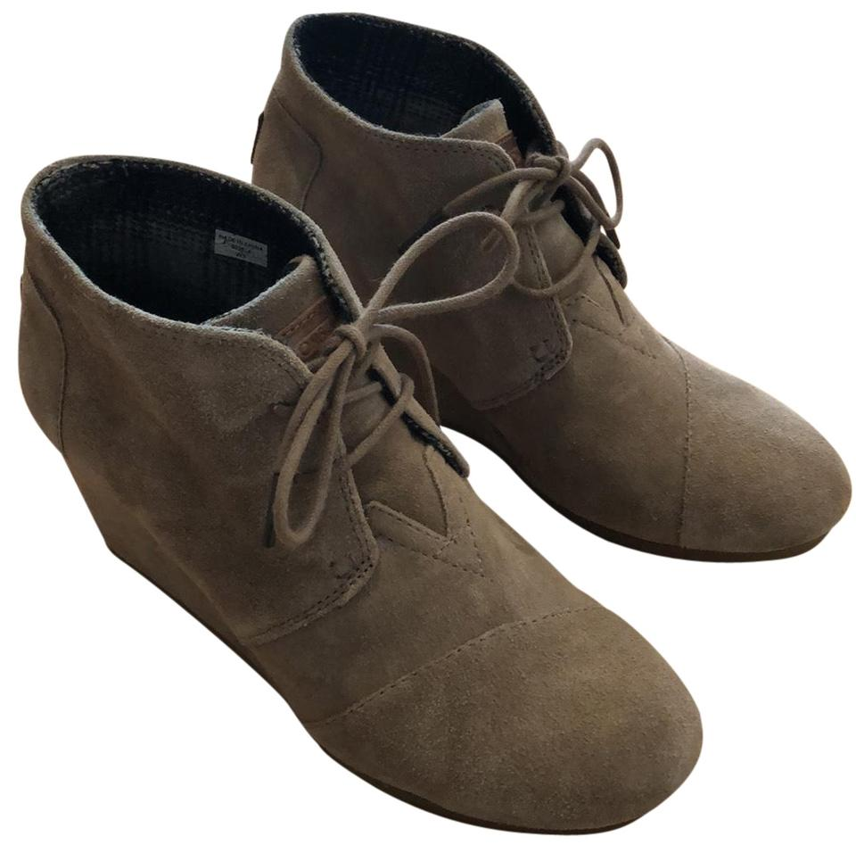 54100fa1528 TOMS Taupe  desert  Wedge Boots Booties Size US 9 Regular (M
