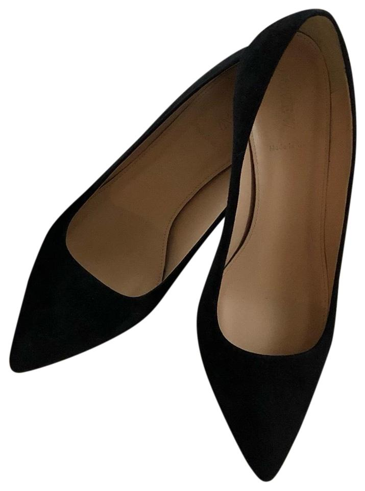 JCrew Black Dulci Suede Kitten Heel Pumps
