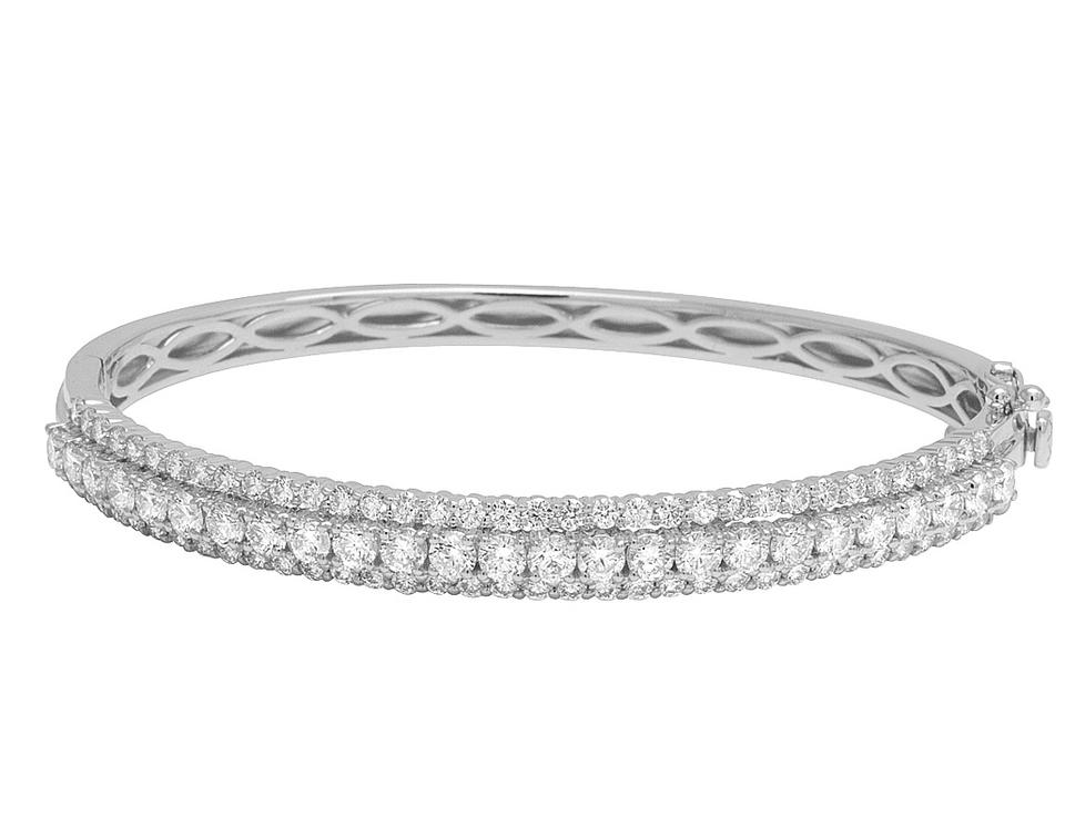 85f61c86aafcb Jewelry Unlimited 14k White Gold 10 Pts Solitaire Real Diamond Bangle 4.65  Ct Bracelet 70% off retail