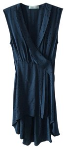 Geren Ford short dress navy teal blue with polka dots on Tradesy