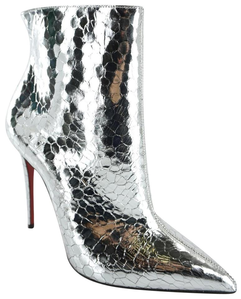 db8fee9f766 Christian Louboutin Silver So Kate Craquelé Leather Pointed Toe Ankle  Boots/Booties Size EU 37 (Approx. US 7) Regular (M, B) 30% off retail
