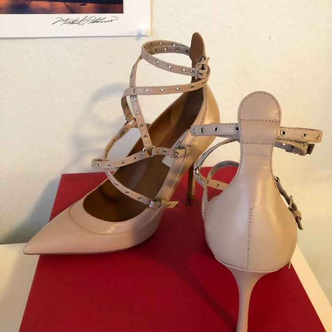 Valentino Nude Ankle Strap Pumps Size EU 37.5 (Approx. US