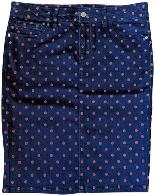 Item - Blue Brown Pencil Skirt Size 8 (M, 29, 30)