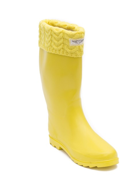 Item - Yellow Women's Tall Rain with Knitted Cuff #3104 Boots/Booties Size US 11 Regular (M, B)