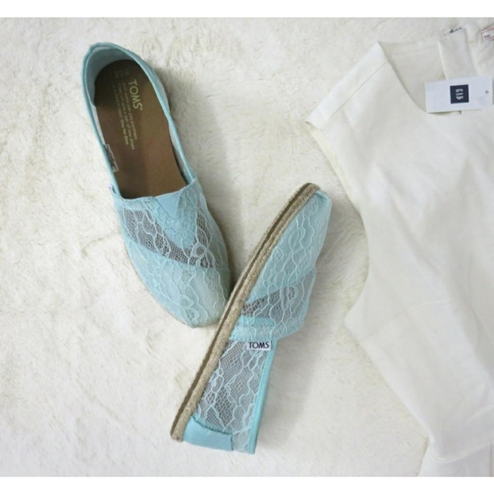cd772e54636 TOMS Mint Bridal Lace Wedding Collection Comfort Espadrille Flats ...