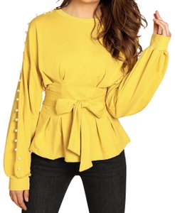 Shein Top Yellow