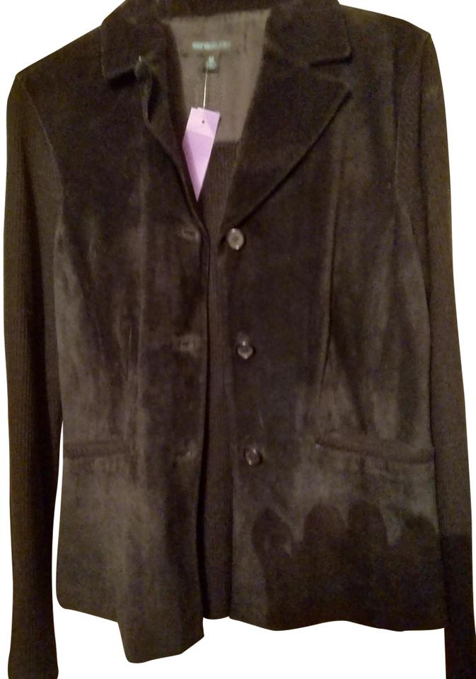 0b3656864 Siena Studio Black Suede and Knit Combo Jacket Size 10 (M)
