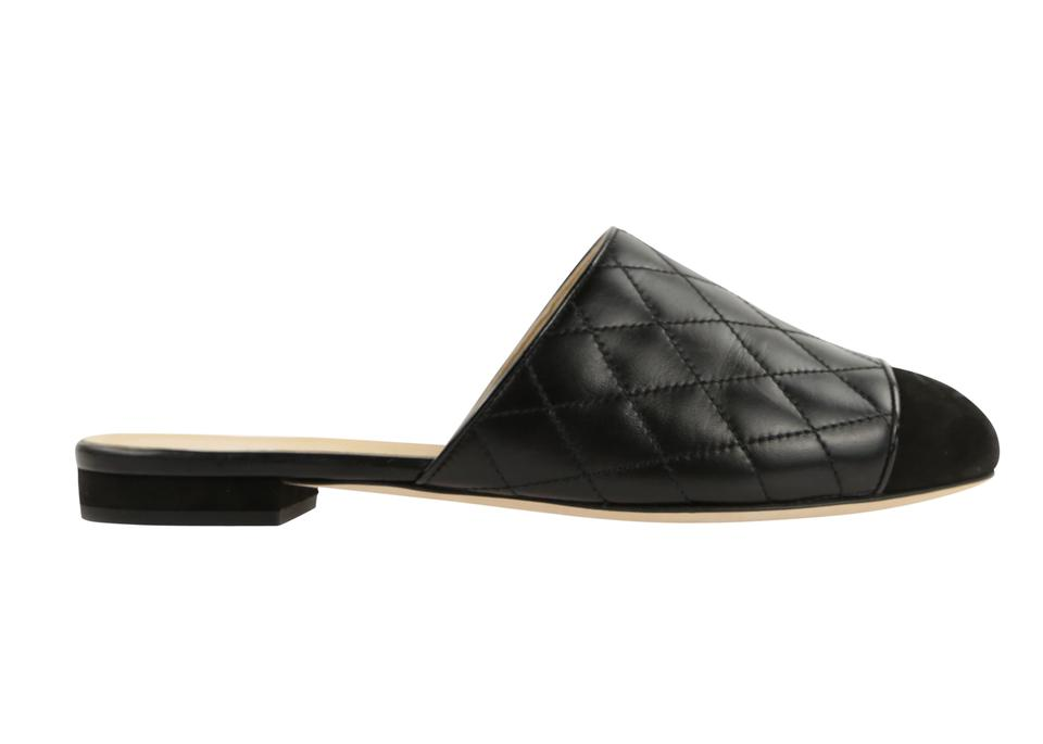 top-rated cheap shop for luxury beauty Chanel Black Quilted Leather Mules Flats Size EU 37 (Approx. US 7) Regular  (M, B) 46% off retail