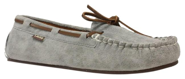 LAMO Grey Cirrus Suede with Tie 7.5m Moccassins with Footbed Flats Size US 7.5 Regular (M, B) LAMO Grey Cirrus Suede with Tie 7.5m Moccassins with Footbed Flats Size US 7.5 Regular (M, B) Image 1