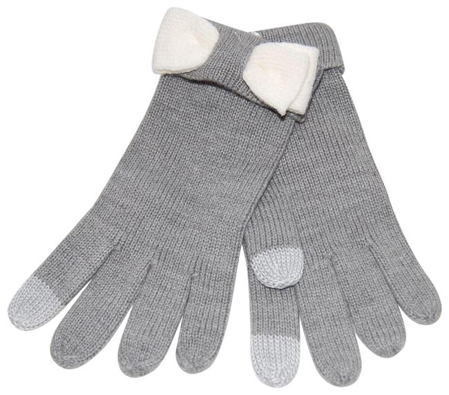 Item - Heather Gray Tech-friendly Colorblock Bow Gloves One Size