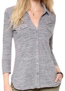 James Perse Button Down Shirt Heather Gray