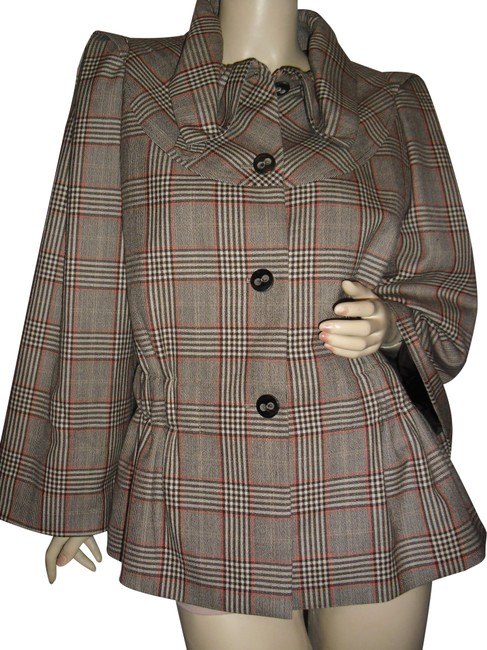 Preload https://img-static.tradesy.com/item/24727577/escada-plaid-pleated-sleeves-gathered-waist-tartan-engraved-buttons-jacket-size-18-xl-plus-0x-0-1-650-650.jpg