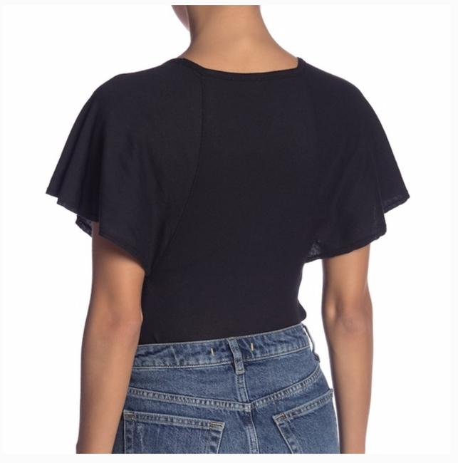Free People Bodysuit Sleeve New With Tags T Shirt black Image 2