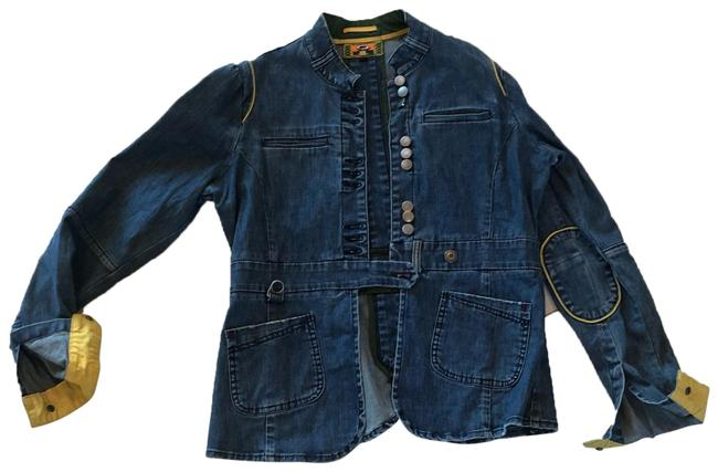 Preload https://img-static.tradesy.com/item/24727636/oakley-blue-jean-and-yellow-industrial-lined-jacket-size-12-l-0-1-650-650.jpg