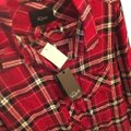 Rails Button Down Shirt Red, Cranberry, White