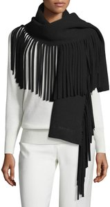 Burberry NWT BURBERRY LARGE SOLID FELTED FRINGE WOOL CASHMERE SCARF WRAP