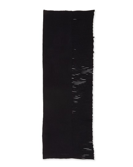 Burberry NWT BURBERRY LARGE SOLID FELTED FRINGE WOOL CASHMERE SCARF WRAP Image 1