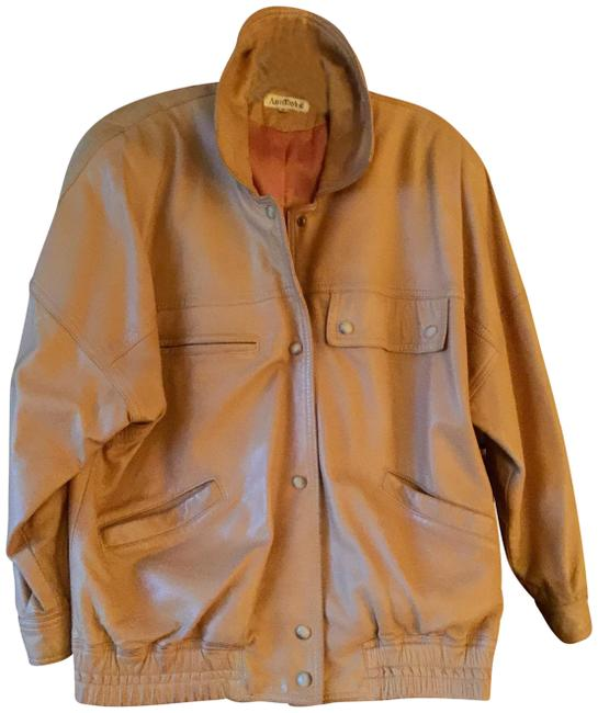 Ann Taylor Beige Leather Jacket Image 0