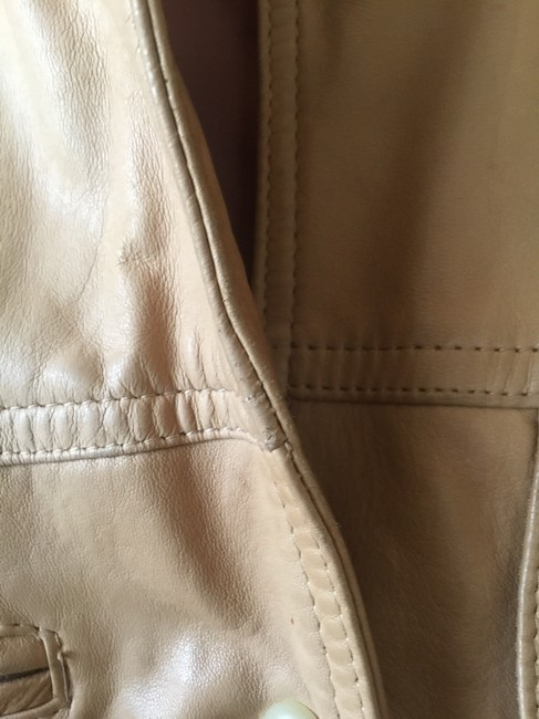 Ann Taylor Beige Leather Jacket Image 2