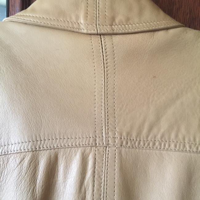 Ann Taylor Beige Leather Jacket Image 5